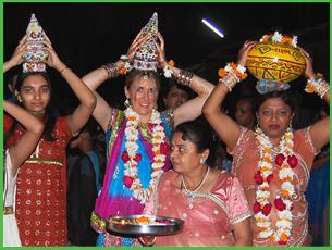 Lisa Bay Santiago in India